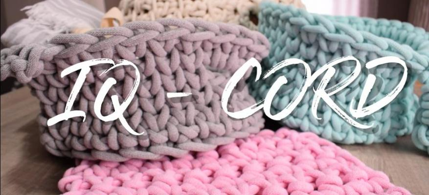 Crochet a pillow with cotton cord yarn IQ