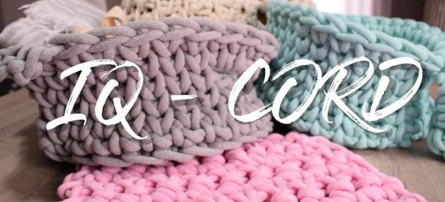 Πως να πλέξετε μαξιλάρι με κορδόνι IQ CORD 9mm