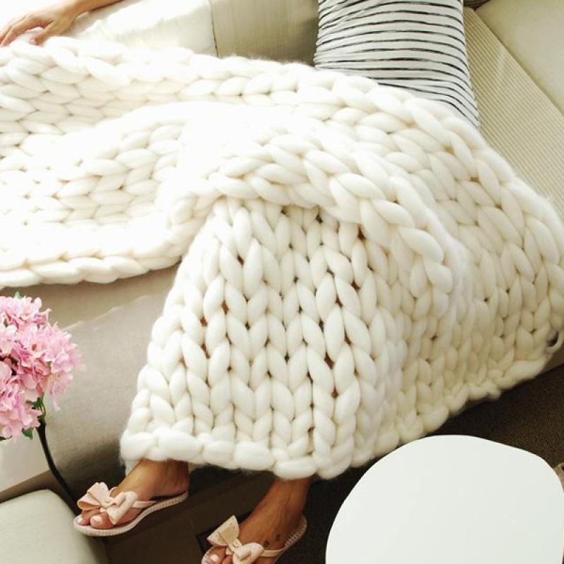 arm knitting Κουβέρτα
